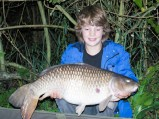 Young Brook Lawrence bagged this 21lb common on the method