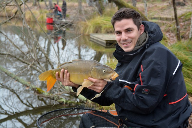 Carpes au method feeder en hiver
